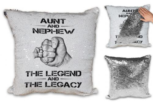 The Legend And The Legacy Sequin Reveal Magic Cushion Cover